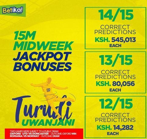 Midweek jackpot bonuses betlion